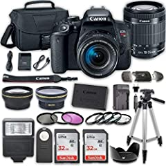 This Camera Digital SLR Camera Bundle Includes:                Canon EOS Rebel T7i Digital Camera         Canon EF-S 18-55mm f/4-5.6 IS STM Lens         Commander 2.2x Auxiliary Telephoto Lens         Commander 0.43x Auxiliary Wideangl...