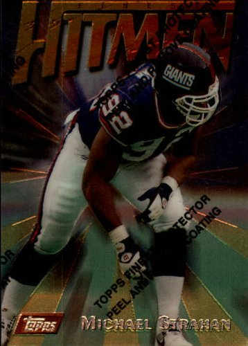 (1997 Topps Finest Football Card #79 Michael Strahan)
