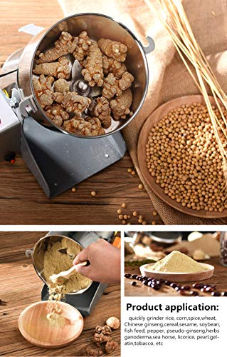Insir Grain Grinder Mill Stainless Steel Electric High-speed Family Medicial Powder Machine Commercial Cereals Grain Mill Herb Grinder,Pulverizer 110v Gift for Mom, Wife (400G) by Insir (Image #8)