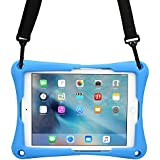 Cooper Trooper 2K Rugged case Compatible with Plum Optimax 10 | Drop Shock Proof Heavy Duty Protective Cover | Shoulder Strap, Stand, Hand Strap | Kids Boys Adults (Blue)