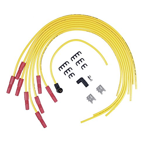 ACCEL 8033 8.8mm Spiral Universal Fit Wire Set - Yellow Accel Universal Fit Spiral