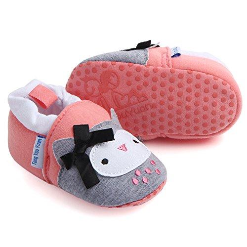 Sawimlgy Infant Baby Boys Girls Cute Cartoon Slippers Warm Cotton Socks Anti Slip Soft Sole House Moccasins Newborn First Crib Shoes