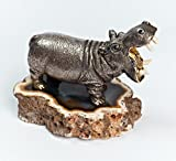Silver Figurine ''Hippopotamus'' - Unique Housewarming gift - Exclusive Anniversary gift and Birthday gift - Animals Figurines - Unique Home Decor