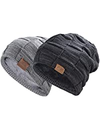 Beanie Hat for Men and Women Winter Warm Hats Knit Slouchy Thick Skull Cap