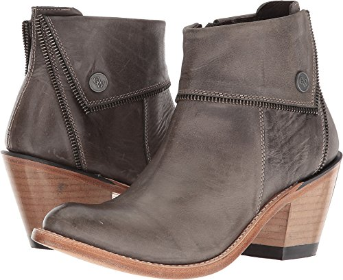 Old West Boots Women's Zippered Ankle Boot Grey 10 B US