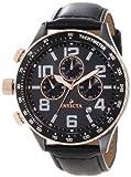 Invicta Men's 11252 Ceramics Chronograph Black Dial Black Leather Watch