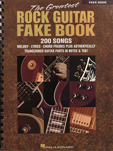 The Greatest Rock Guitar Fake Book (Guitar Rock Music Sheet)