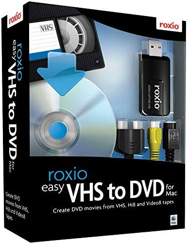 Roxio Easy VHS to DVD for Mac | VHS, Hi8, V8 Video to DVD or Digital Converter [Mac Disc] WeeklyReviewer