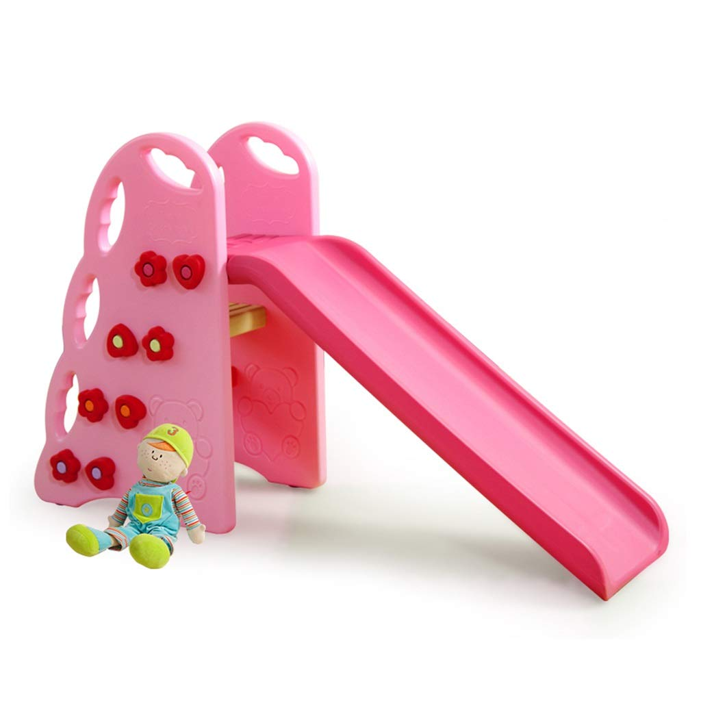 自立式スライド式子供用スライド式フィットネス器具 独立型ポータブルスライド ピンク 室内遊び場 2歳から6歳 緑色プラスチック玩具 お子様に最高のギフトアセンブリ 自立式 100*34*90cm ピンク B07MFZX6NZ ピンク 100*34*90cm