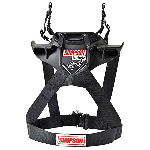 Simpson Hybrid Sport Head Restraint with Quick Release Tethers and D-Ring kit - Medium by Simpson Racing