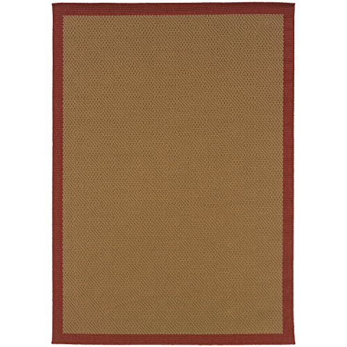 - Super Area Rugs Indoor/Outdoor Rug Washable Beige Solid Patio Porch Terrace RV Carpet, 4x6 [3' 7