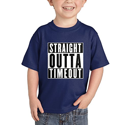 - HAASE UNLIMITED Straight Outta Timeout T-Shirt (Navy Blue, 4T)