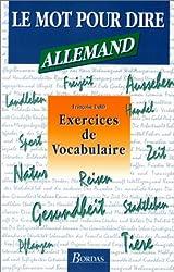 Allemand - Exercices de vocabulaire ( Le Mot pour dire)