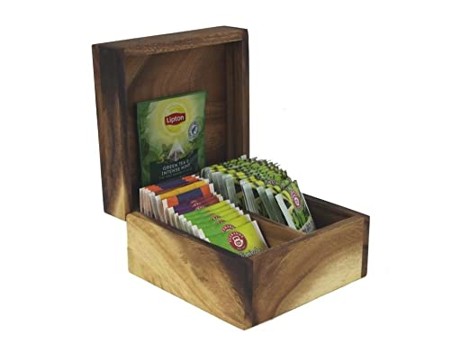 Caja para bolsas de té/ - Lata para té bolsa 15 x 15 cm ...