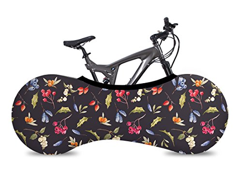 VELOSOCK Bicycle Bike Cover Berry for Indoor Storage - Keeps Floors and Walls Dirt-Free - Fits 99% of All Adult Bicycles