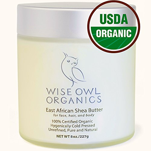 East African Shea Butter - Best Body Butter - In a Glass Jar with Gift Box