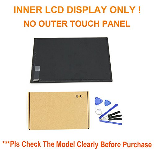 UoUo 7 inch LCD Display Screen For Verizon Ellipsis Qmv7a Qmv7b Tablet with 8 pcs tools gift