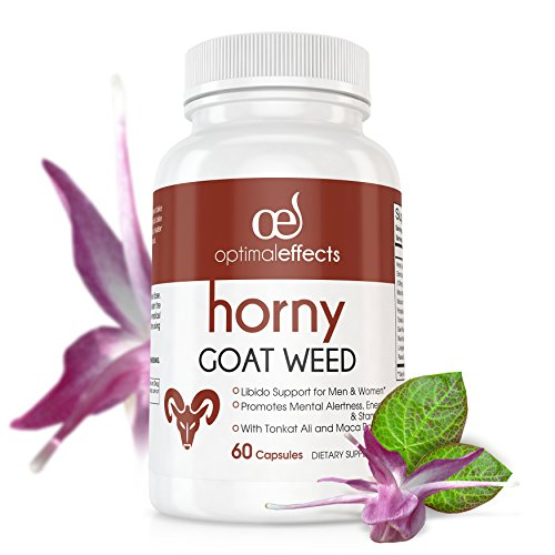 Horny-Goat-Weed-Extract-with-Maca-Root-for-Performance-Natural-Libido-Boost-by-Optimal-Effects-for-Men-Women-Herbal-Complex-Blend-Supplement-Ginseng-Tongkat-Ali-Powder-60-1000mg-Capsules