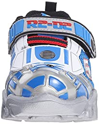Skechers Kids Star Wars Damager III Astromech Light-Up Sneaker (Toddler/Little Kid), Silver/Blue, 9 M US Toddler