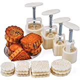 Axe Sickle -12 Stamps and 4 Sets - Party Moon Cake Mold - Mid Autumn Festival DIY Decoration - 50g/100g - White