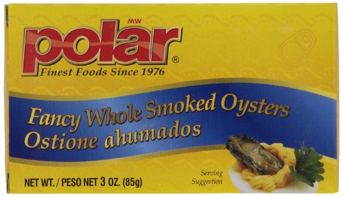 MW Polar Seafood, Fancy Whole Smoked Oysters, 3-Ounce (Pack of (Polar Oysters)
