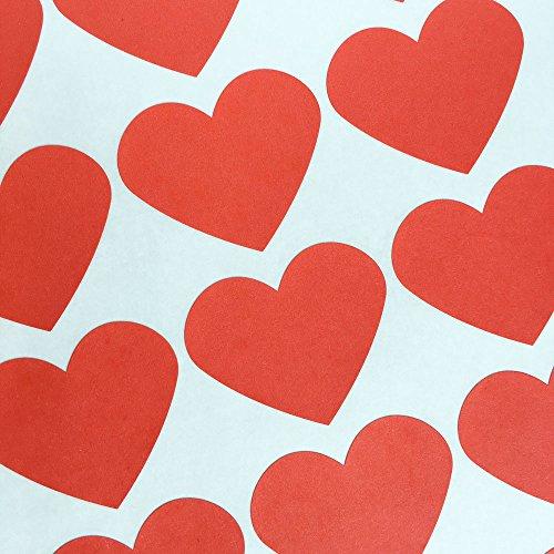 Bling Heart Bling (Bakers Bling Jumbo Red Heart Stickers, 30 Stickers)
