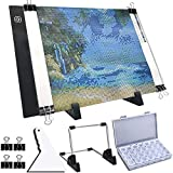 Photo : ARTDOT A4 LED Light Pad for Diamond Painting, USB Powered Light Board Kit, Adjustable Brightness with Detachable Stand and Clips