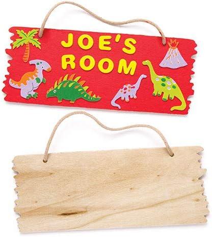 Baker Ross Proyecto artesanal de placas colgantes de madera - Ideal para manualidades, regalos, recuerdos y más para niños (paquete de 3)