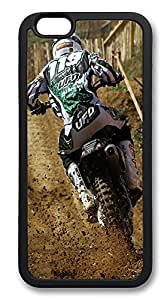 iPhone 6 Cases, Dirt Bike Rider Durable Soft Slim TPU Case Cover for iPhone 6 4.7 inch Screen (Does NOT fit iPhone 5 5S 5C 4 4s or iPhone 6 Plus 5.5 inch screen) - TPU Black