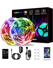Led Lights Strip for Bedroom, L8star Led Lights Smart RGB Led Strip Lights with Bluetooth and Remote Controller Led Light Strips Sync to Music