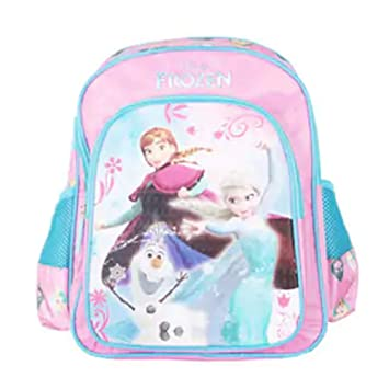 e5427c206a5 My Baby Excel Polyester 14-inch Disney Frozen Sister Turquoise School Bag   Amazon.in  Bags
