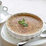 GOURMEX White, Round, Fluted Quiche Baking Dish