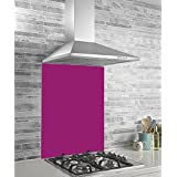 Hafele Kitchen Splashback Panel - Glass - Fuchsia Pink - 745x595x6mm by Hafele