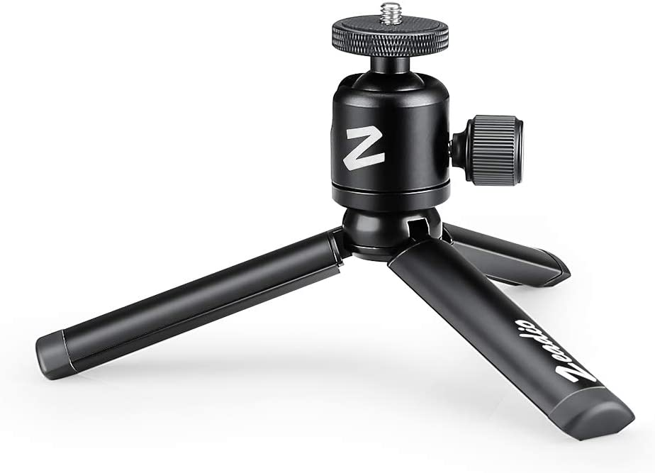 Zeadioメタルミニ三脚 360°回転雲台マウント付き