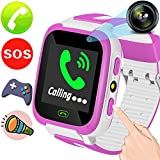 Kids Smart Phone Watch - Included 9 Game SIM Slot Best Phone Watch With Camera SOS Anti-lost Bracelet Learning Toys Soprt Wrist Watch for 3-14 Years Girls Boys School Birthday Holiday TravelGift
