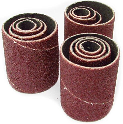 2 inch Long Spindle Sanding Sleeves [Assorted Grit ] - Pack of 12