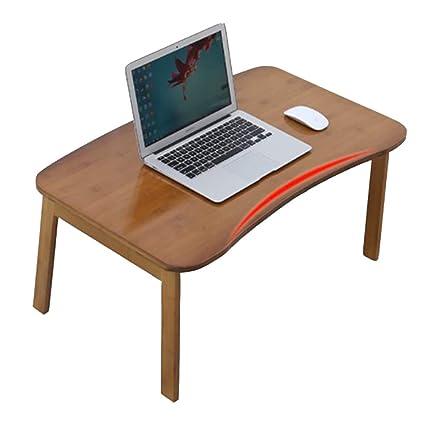 YFUIOVX Mesa Plegable Cama Bambú Cuadrado Computadora Tabla del Ordenador portátil, Multifuncional Perezoso Comedor Aprender