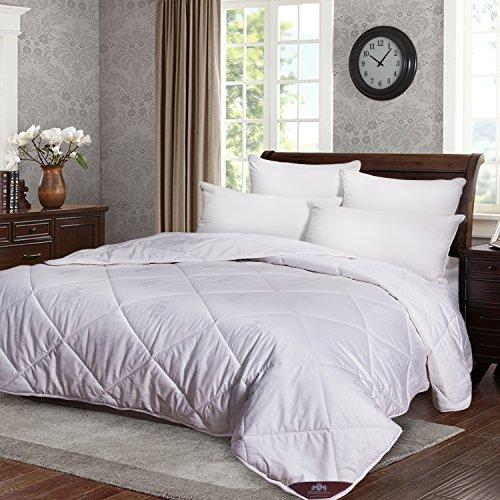 Comforter Weight Filled Wool Winter - Triumph Hill Comforter 100% Australian Wool Medium Weight 100% Jacquard Cotton Winter (Queen 92x96)