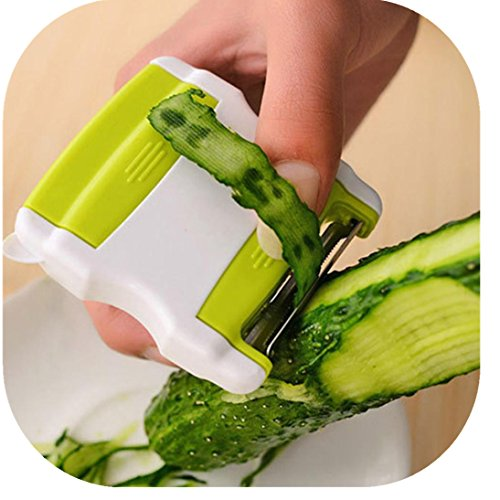 Fheaven (TM) 2 in 1Paring Multi-function Paring Knife Scraper Fruit Vegetable Peeler Planer Peeler Grater Cutter