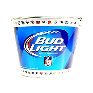 Bud Light Beer Ice Bucket w/ ALL NFL Team Logo