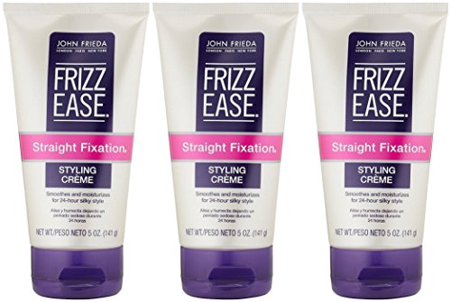 John Frieda Frizz-Ease, Straight Fixation Smoothing Creme - 5 oz, 3 Pack