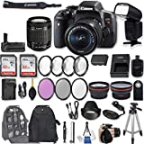 Cheap Canon EOS Rebel T6i DSLR Camera EF-S 18-55mm f/3.5-5.6 is STM Lens + 2Pcs 32GB Sandisk SD Memory + Universal Flash + Battery Grip + Filter & Macro Kits + Backpack + 50″ Tripod + More