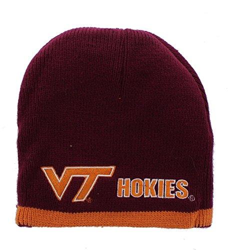 New! Virginia Tech Hokies Embroidered Beanie Hat Reversible Knit Skull Cap -  Big Boy Gear