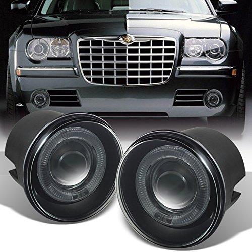 Chrysler Srt (For Chrysler 300C | Dodge Charger SRT-8 | Caliber SRT-4 LED Halo Ring Smoked Fog Light Assembly w/Switch,Wiring + Relay)
