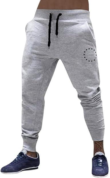 Pantalones para Hombre, Logobeing Hombres Pantalones Harem ...