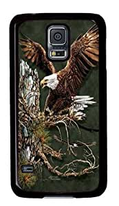 Find 12 Eagles PC Case Cover for Samsung S5 and Samsung Galaxy S5 Black