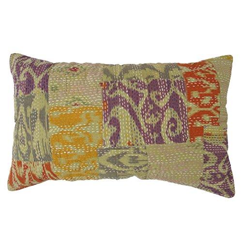 Decorative Pillow Patchwork Home Décor Kantha Stitch Cushio