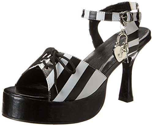 Convict Cutie Halloween Costume (Forum Novelties Striped Convict Cutie Shoes, Black/White, Medium)