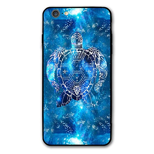 SRuhqu Blue Space Sea Turtle Gifts Shockproof Anti-Scratch Slim Fit Hybrid TPU PC Frame Soft Back Cover Protective IPhone 6 Plus Case ()