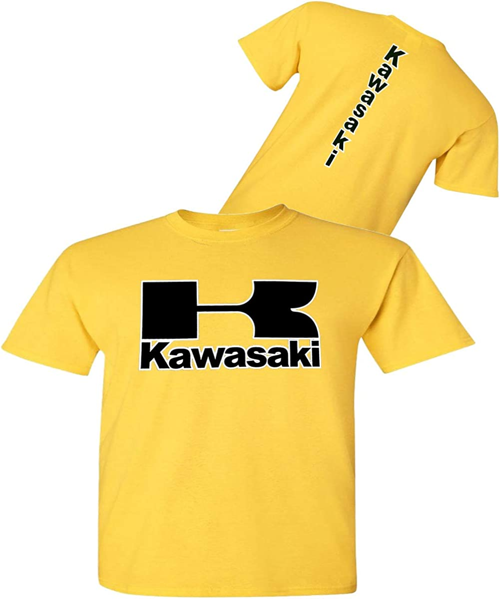 Kawasaki - Camiseta para Motocicleta, Color Amarillo - Streetbikes Dirtbikes Ninja ATV - Camisa Kawasaki - Amarillo - XX: Amazon.es: Ropa y accesorios